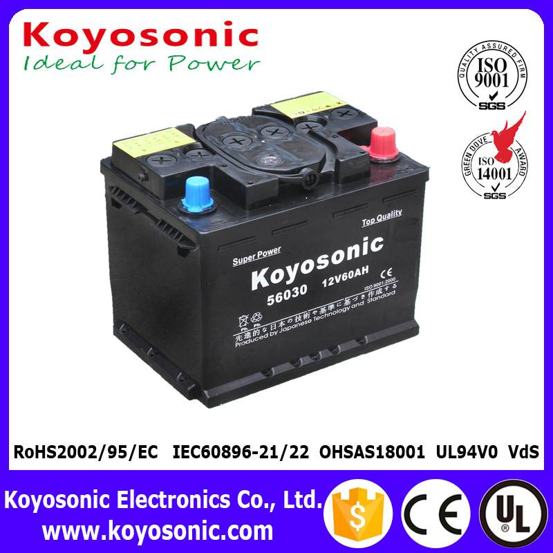 Good Quality DIN Standard 12V 60AH Dry-Charged Car Battery Automotive Battery