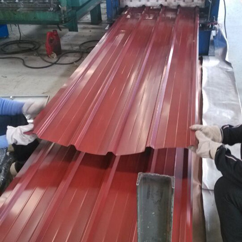 Red 0.17mm Color Coated Box Profiled Steel Iron Roofing Sheets