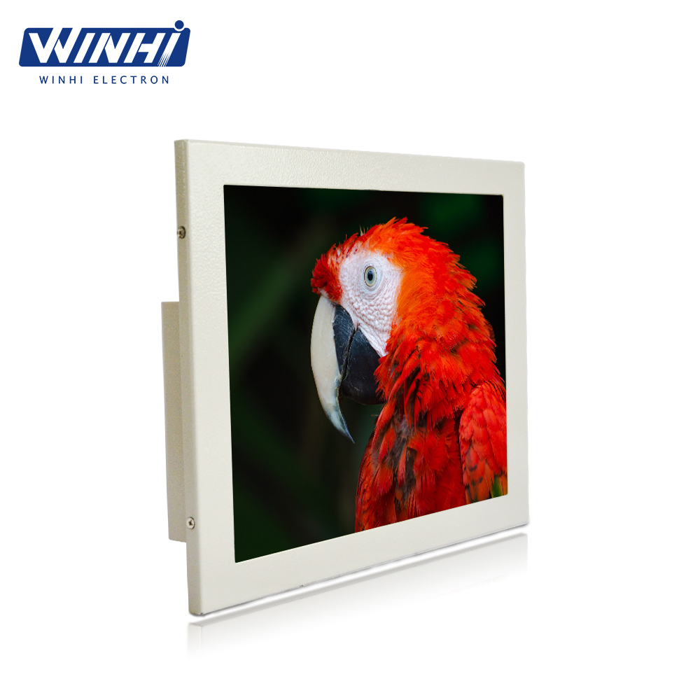 Metal case small lcd video display hd input media player small size lcd monitor with VGA DVI 9 inch