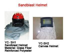 Sandblast helmet