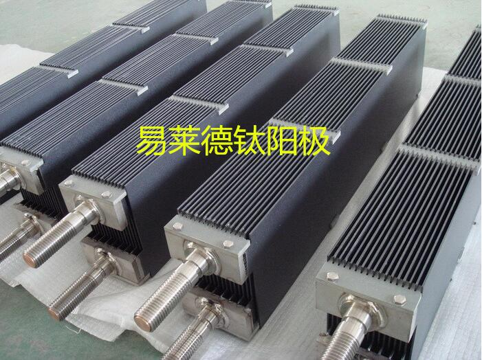 Titanium MMO anode for swimming pool disinfection