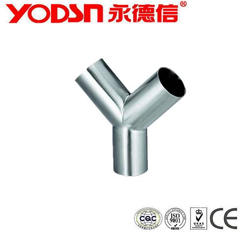 SS304 SS316 Sanitary Stainless steel Food Grade Y type pipe fittings