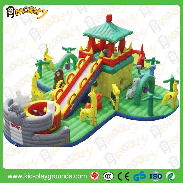 children indoor playground inflatable combo bouncer and slide