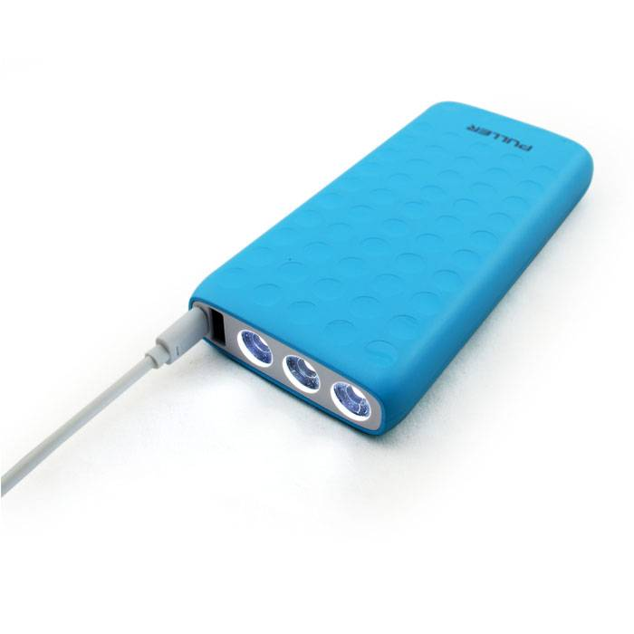 PULLER BRAND POWER BANK  2 ouputs 3 LED lights 12000mAh portable charger