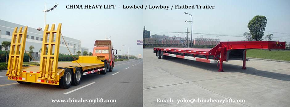 CHINA HEAVY LIFT - 2 axle Lowbed Trailer - CHINA HEAVY LIFT