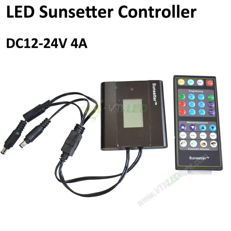 DC 12V -24V Sunsetter Controller For 12V LED Strip Lights (Require dimming Control the light emittin