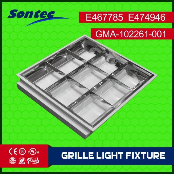 2ft2xft Louver light fixture T8 LED UL SAA CE approved