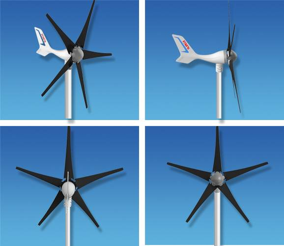 HOT SELL 12V/24V 400W small wind turbine