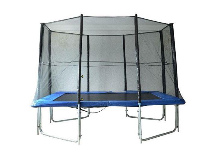 10' x 7' Rectangle Backyard Trampoline Safety Enclosure Net Kit