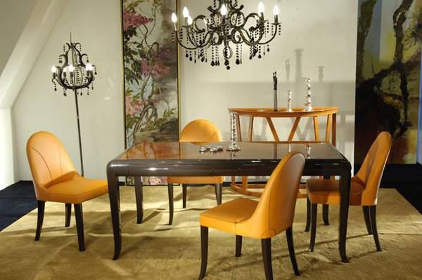 High-end designer furniture: restaurant dining table and dining chairs -Shanghai JL&C Furniture
