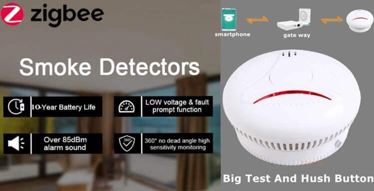 EN14604 10 year life Zigbee smoke alarm smart smoke detector