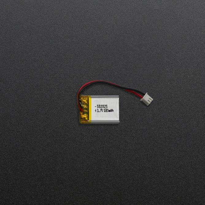 3.7V 180mAh Polymer Li-ion Battery 502025 li-polymer battery