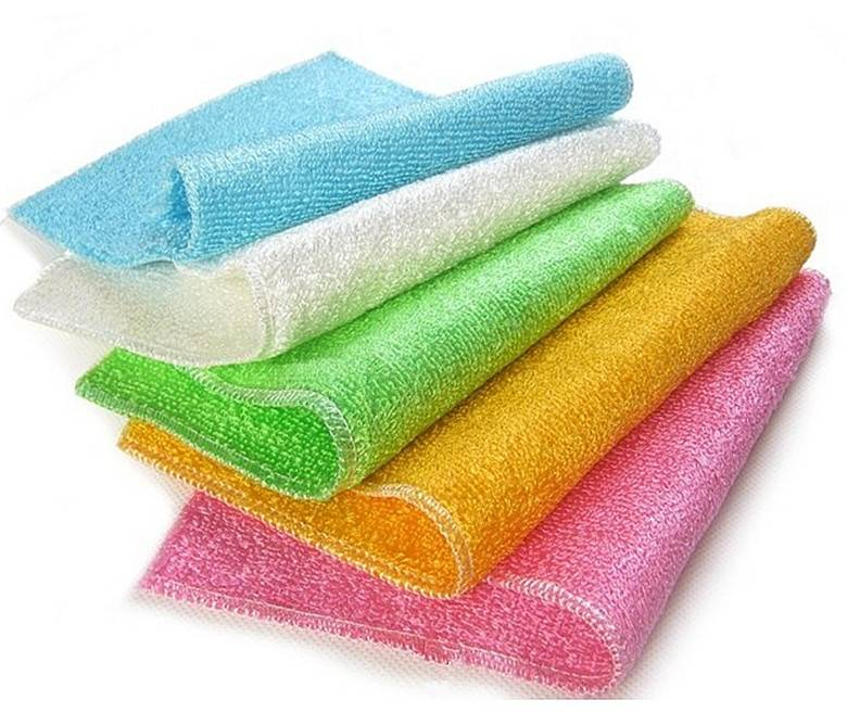 Anti grease 100%bamboo wash cloth,kitchen cleaning cloth