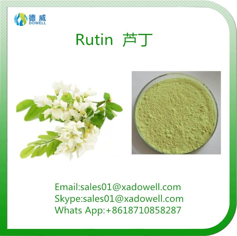 Plant Extract Powder Rutin CAS No:153-18-4 EP98%Min/NF11 95%Min/DAB 98%Min