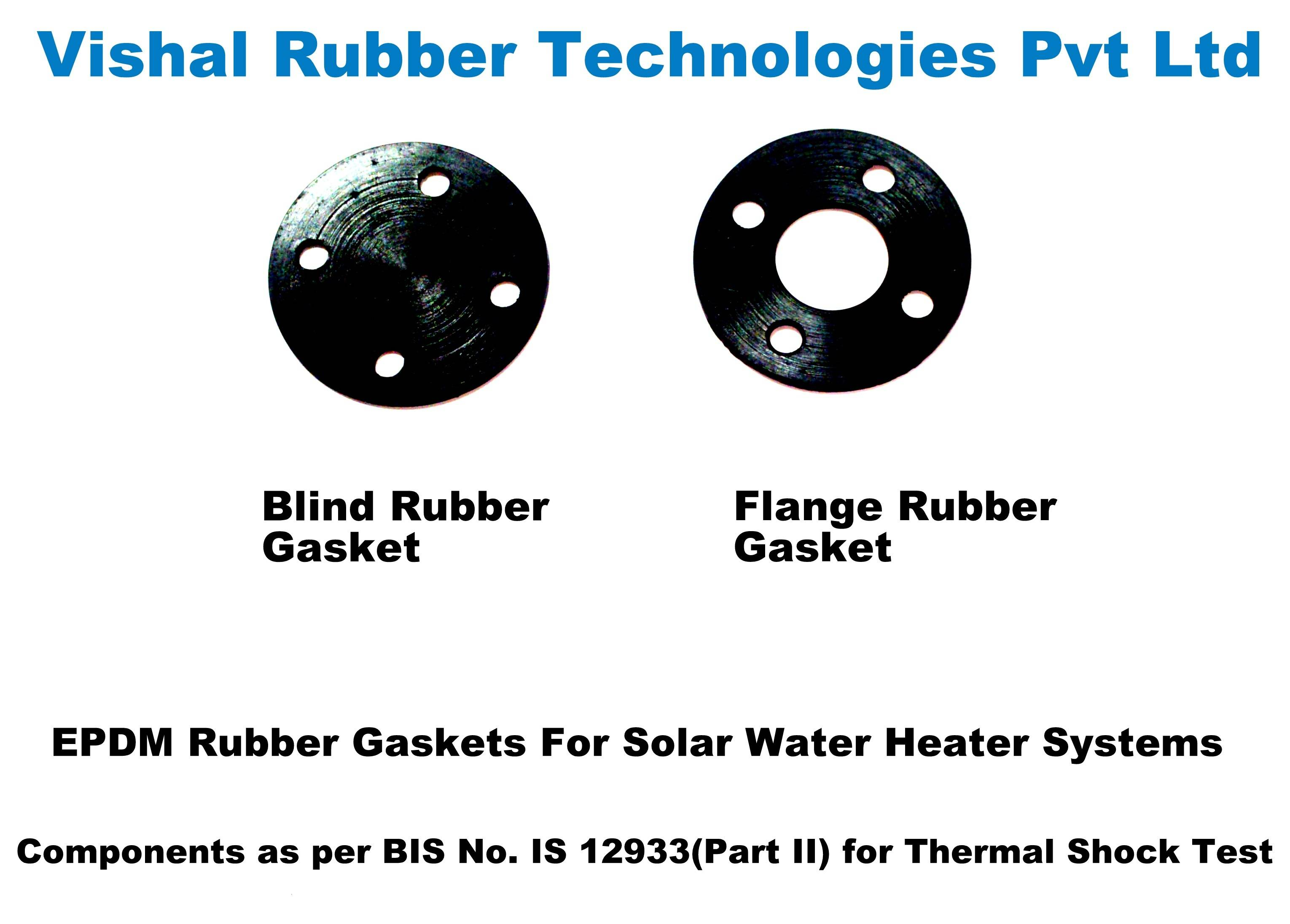 Blind and Flange EPDM Rubber Gaskets for Solar Water Heaters