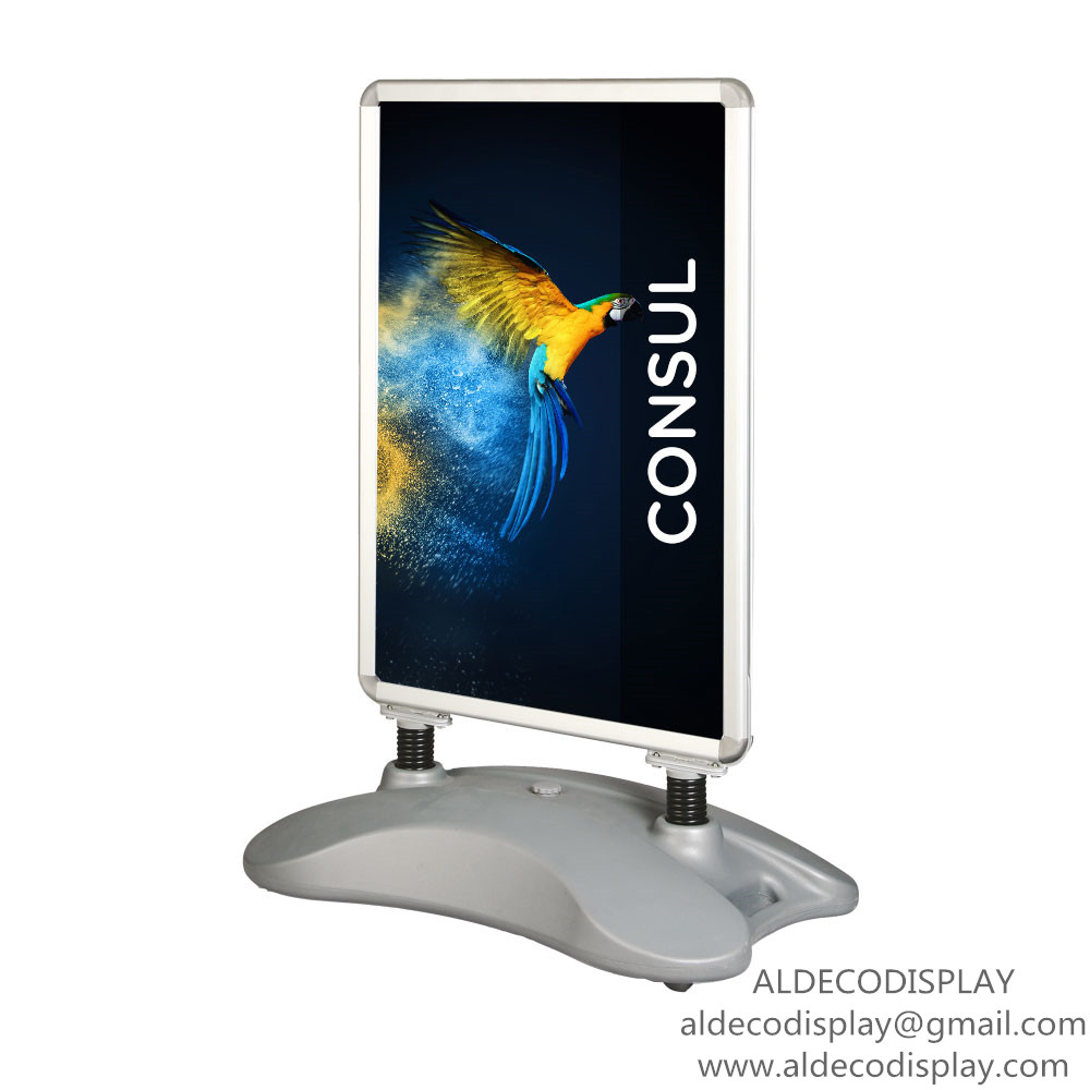 Double sides water-base poster stand