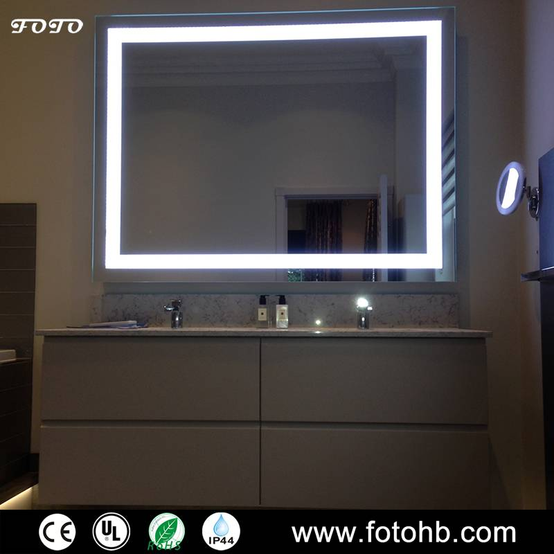 LED Illuminated Mirror in Bathroom