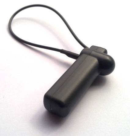 Black Color Pencil Eas Alarm Tag With Long Lanyard For AM System