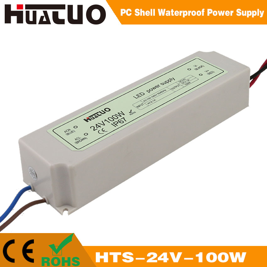 24V-100W constant voltage PC shell waterproof LED power supply