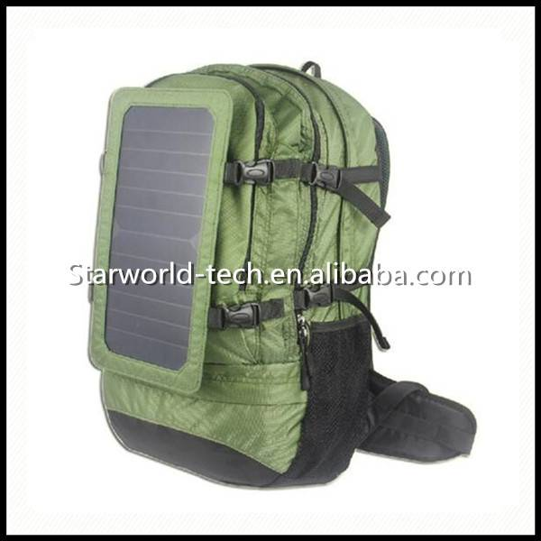 Customized Wholesale Waterproof Solar Panel Battery Charger Backpack