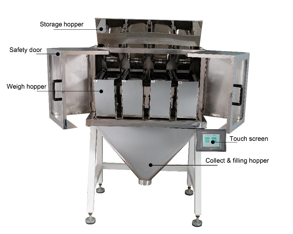 Automatic 4 Head Filling Machine For Seeds or Sugar