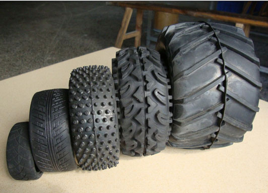 Toy car rubber tires