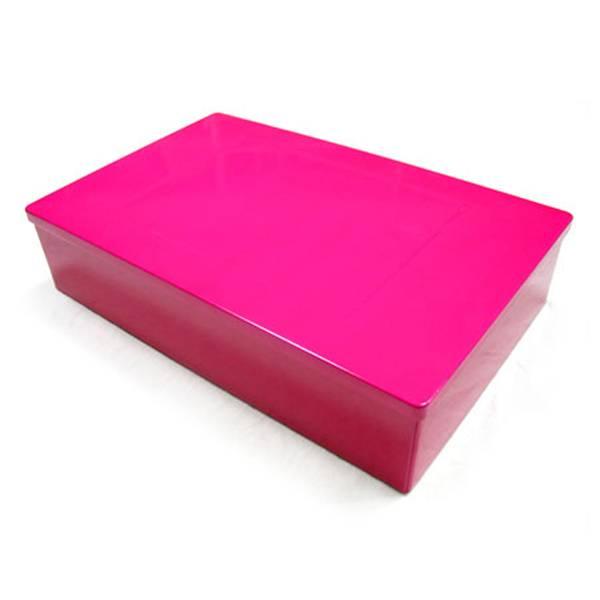 rectangle pink cosmetic tin box