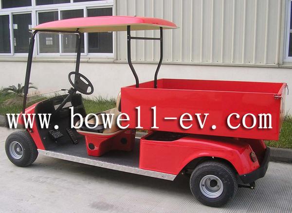 2 seat golf car with long cargo box EV2041H