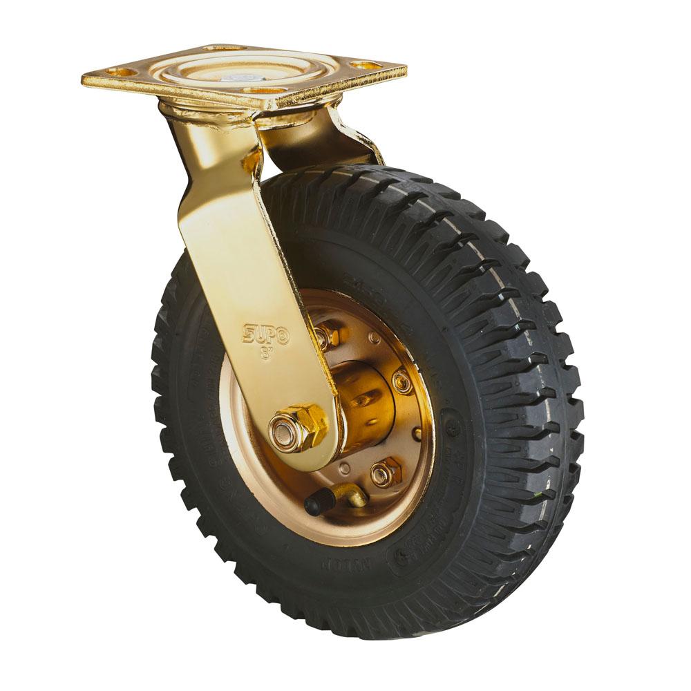 ER PA Wheel 6 8 10 Inch Wheel Swivel Rigid Top Plate Foam Pneumatic Casters