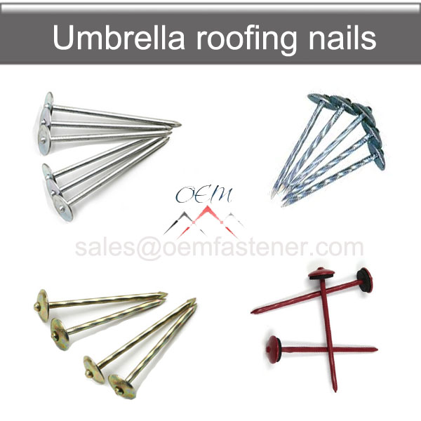 umbrella head roofing nails screw nails