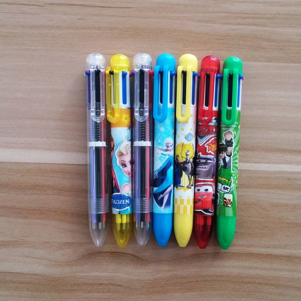 promotional multi color 6 color pen with logo
