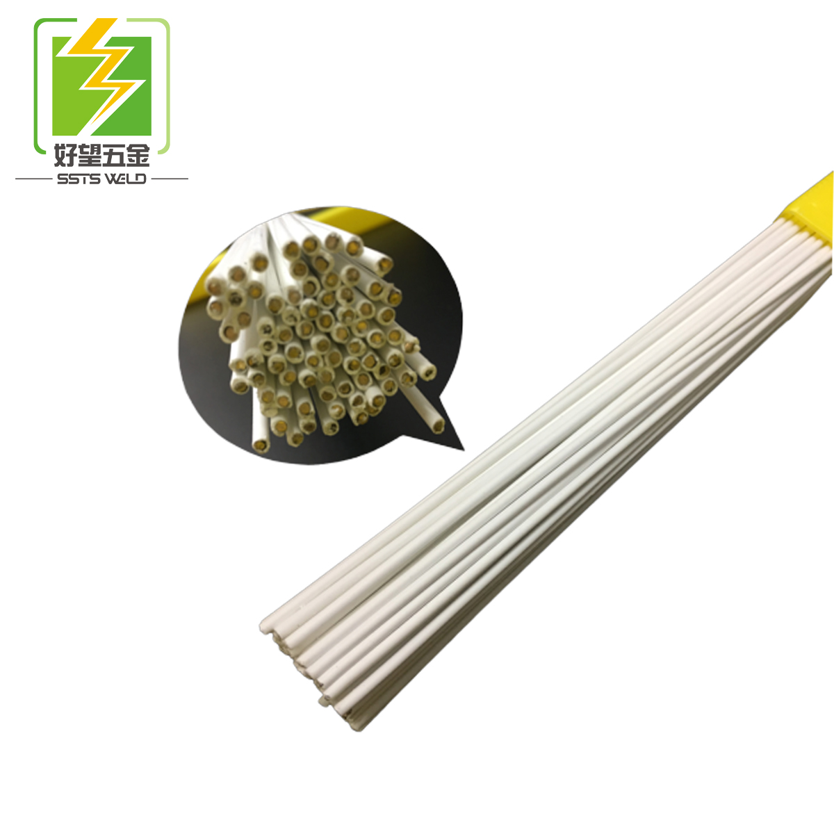 High quality copper/brass alloy colorful flux coated brazing rod