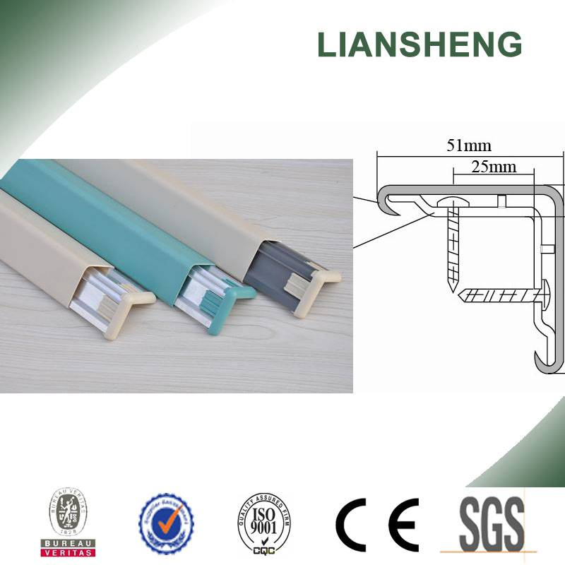 Anti-collision Hospital Wall PVC Corner Guard