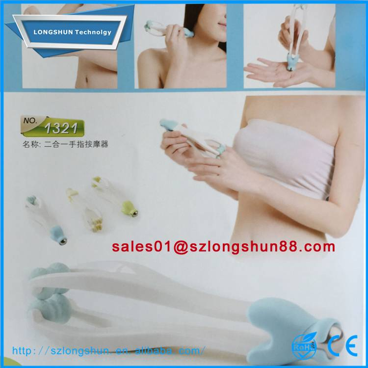 Cheapest health care products plastic handheld finger spa massager roller