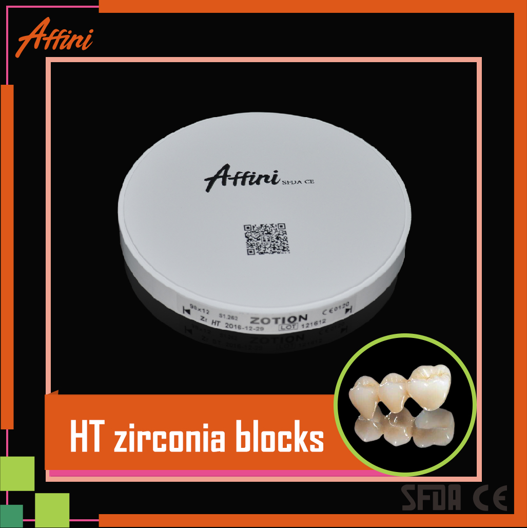 dental implant zirconia ceramic blocks