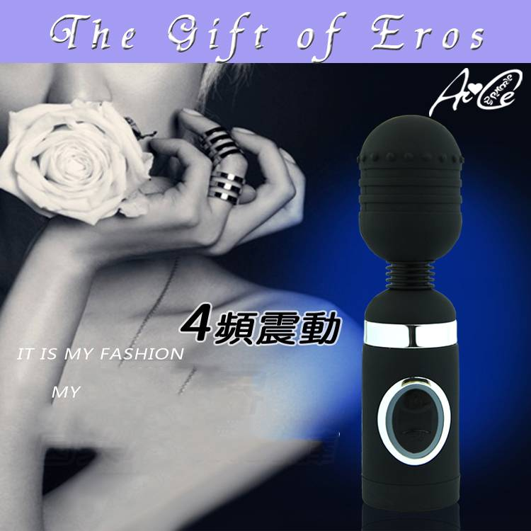 multi-speed magic wand massager AV shaving black color for woman clit stimulator model EROS-AVW-113