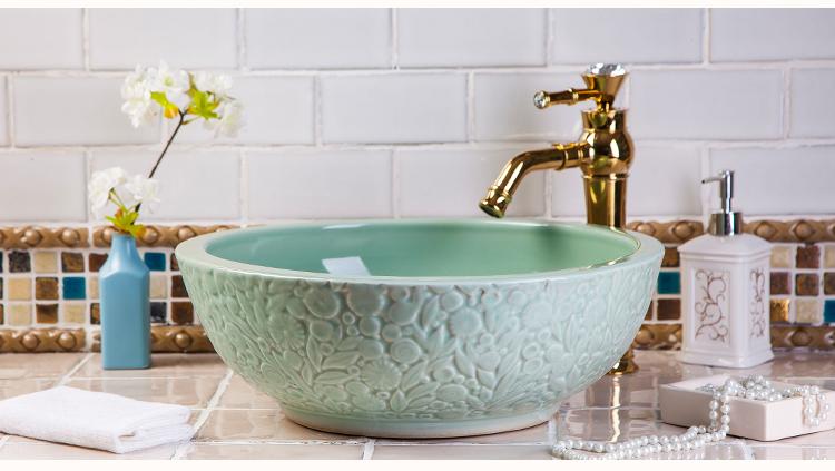 Hotel Cloakroom Ceramic Counter Top Washbowl Undercounter Porcelain Wash Basin Sink Pop-up Drain