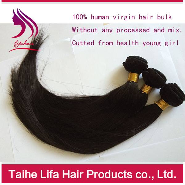 Virgin human hair extension no tangle no shed hair weave