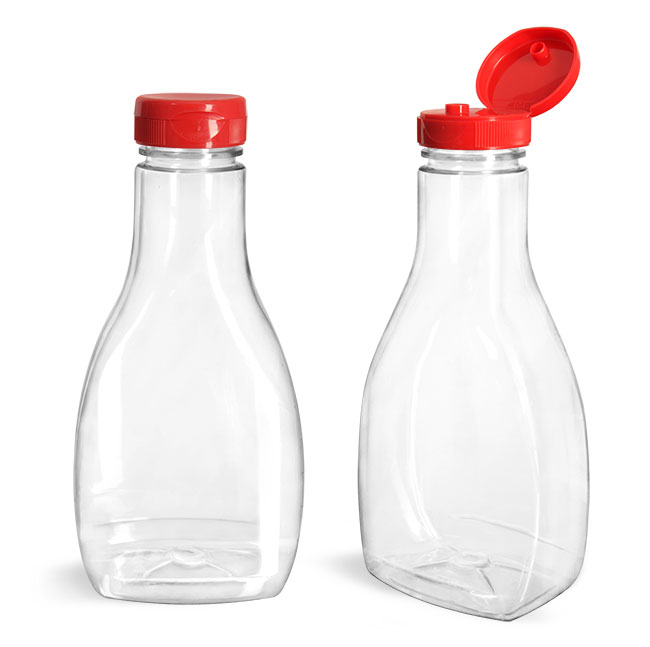 Best Selling 500ml bbq tomato plastic sauce bottle for seasonings condiments