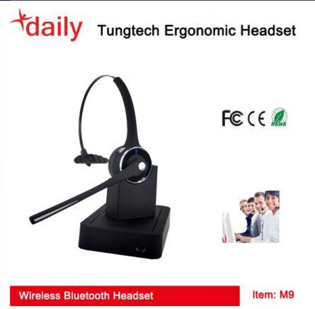 Wireless Bluetooth Headset With Rechargeable Battery
