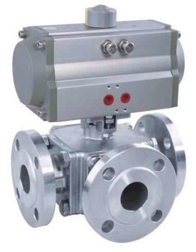 Pneumatic high platform 3-way  ball valve