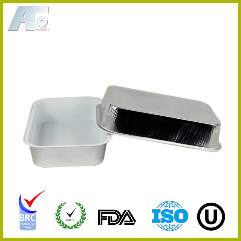 Disposable aluminum foil container for household use