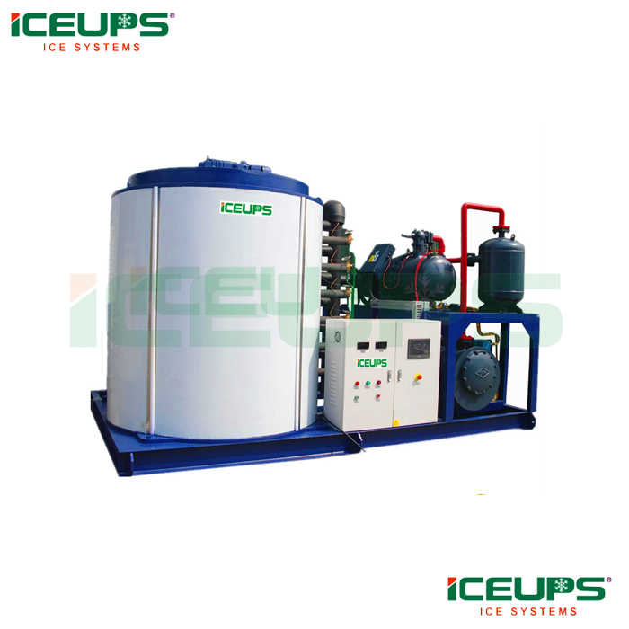 Large industrial ice flake machine for concrete
