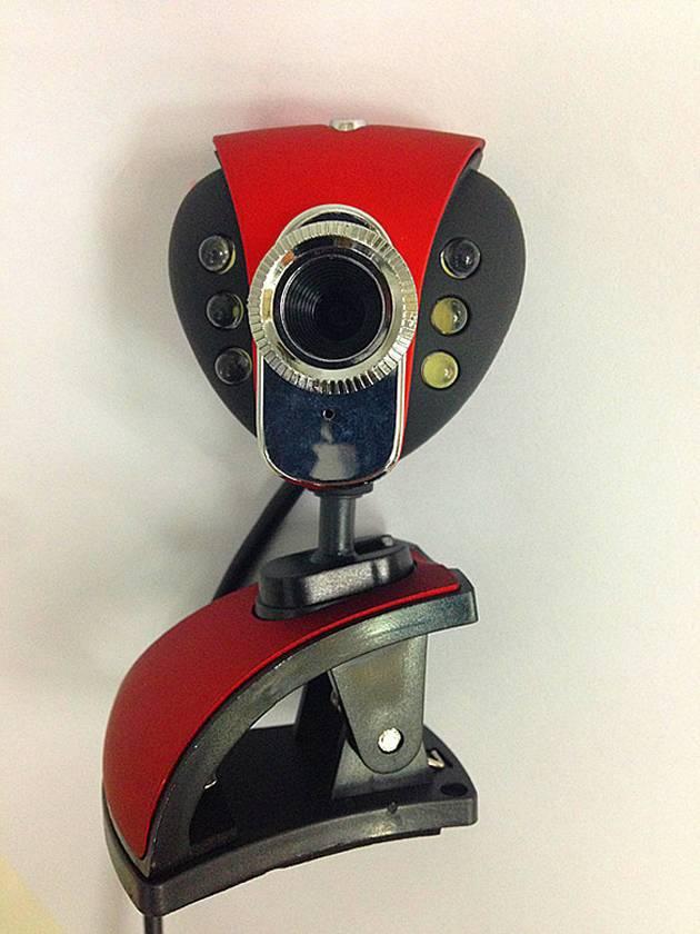 heart shape webcam with 6 led light