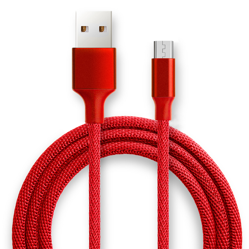 1M/1.2M/1.8M Cloth Braided USB Charge Date Sync Cable for Mobile Phone
