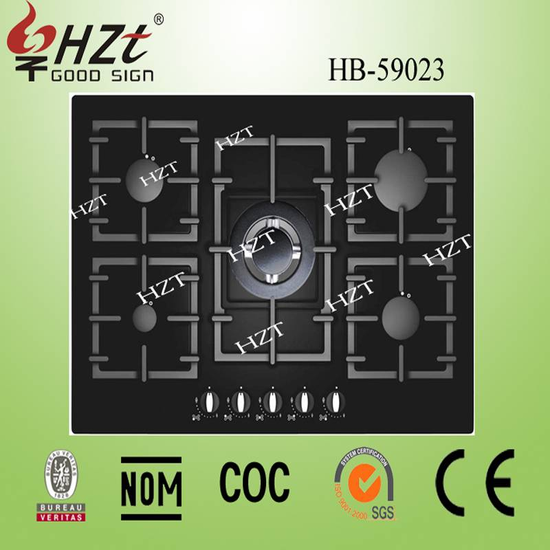 2015 home kitchen appliances Glass Surface Material italian gas hob