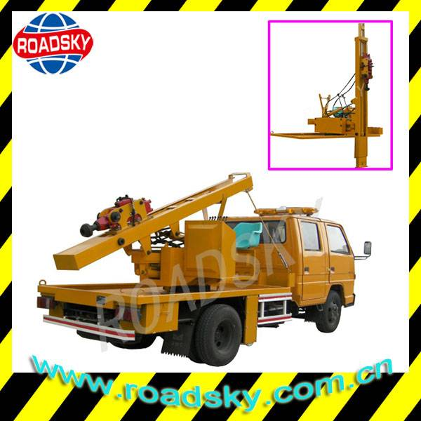 Hydraulic Post Driving Equipment for Guardrail