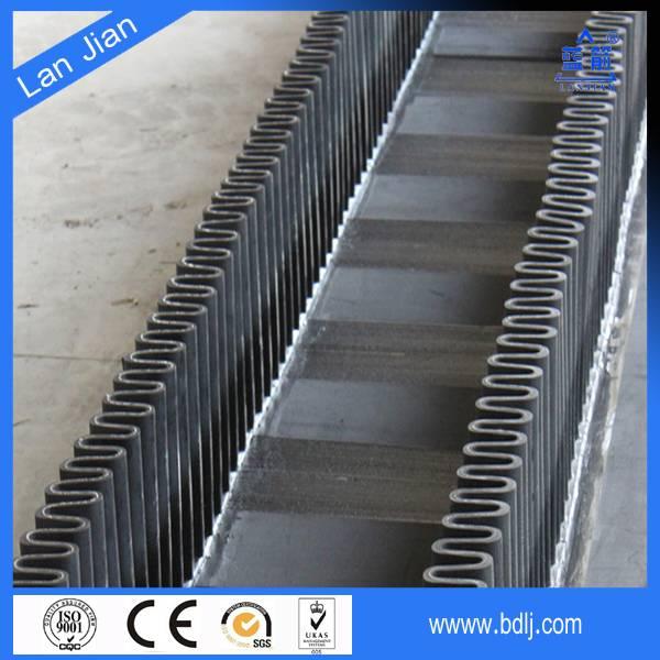 large loading capacity high angle corrugated sidewall rubber conveyor belt
