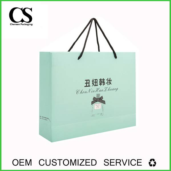 custom offset printed paper handle bag