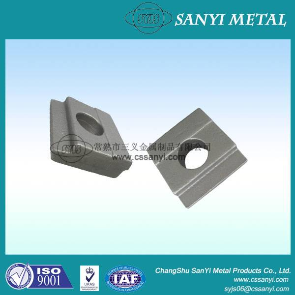 Forged metal parts spring rail clips stamped steel railway fixing drop forged rail clips